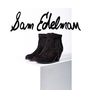Sam Edelman Louie fringe booties size 8